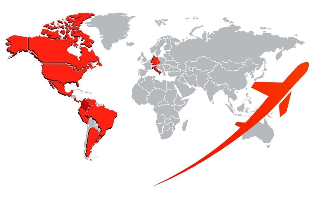 Mapa de exportaciones Suprapak